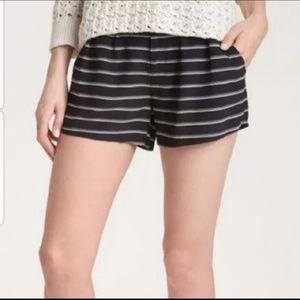 Joie Misa Mini Silk Striped Shorts